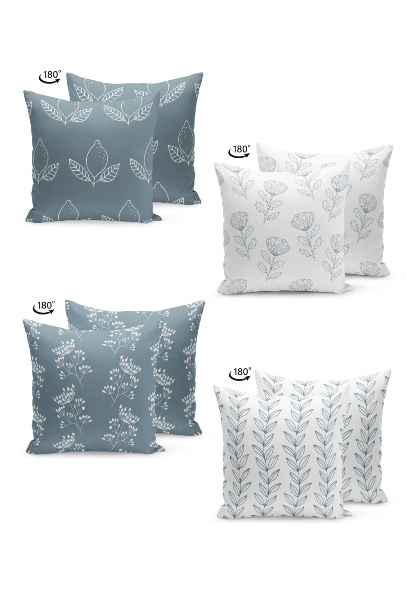 Pillowcases - Set of 4 Flowering