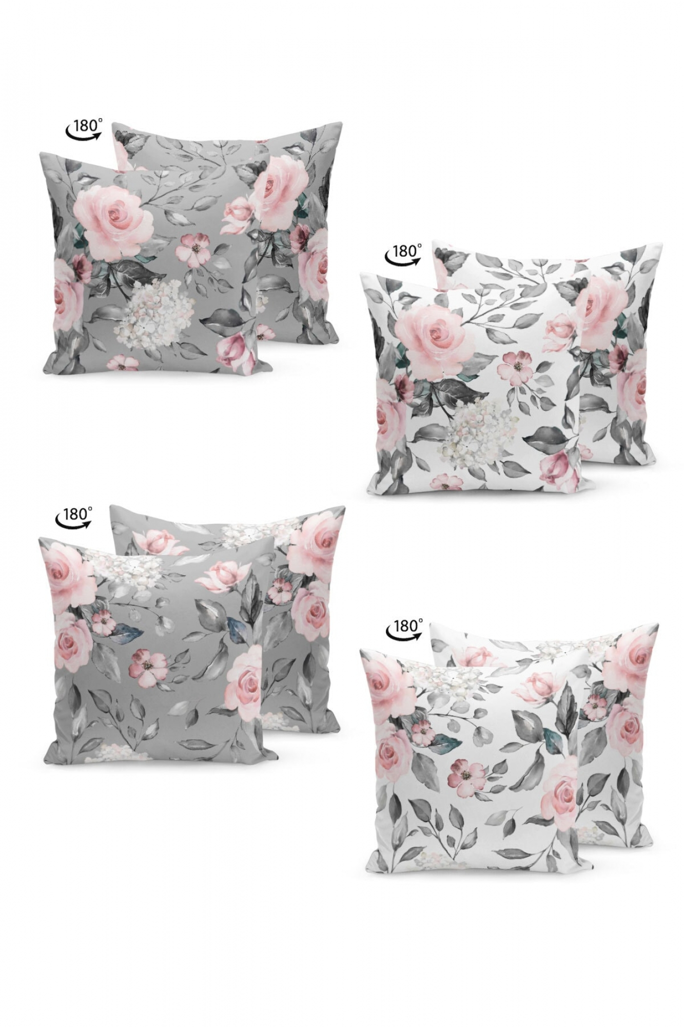 Pillowcases - Set of 4 Rose