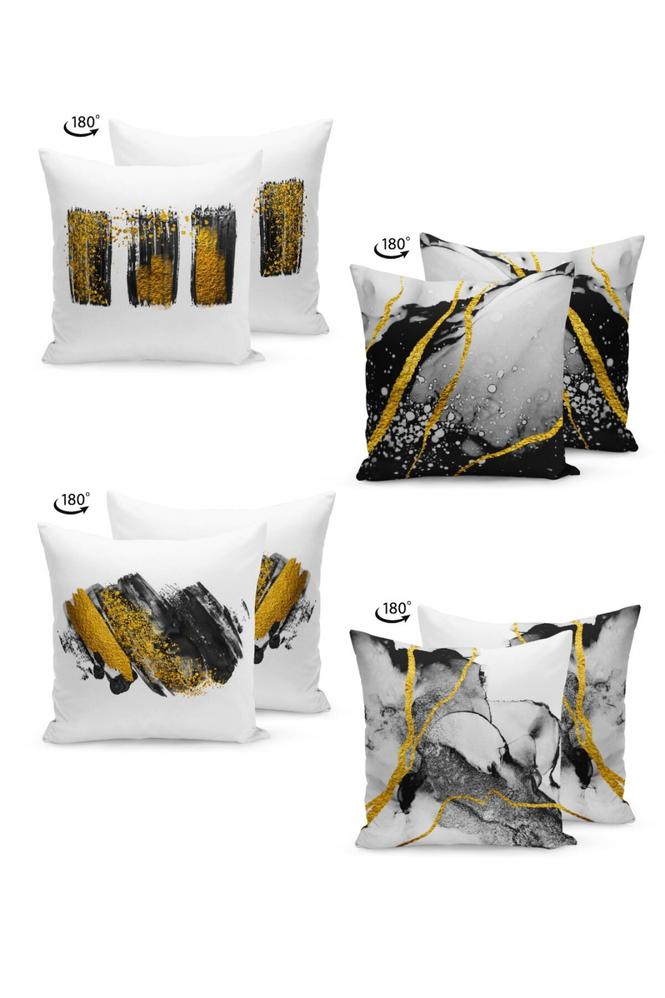 Pillowcases - Set of 4 Yellow Touch