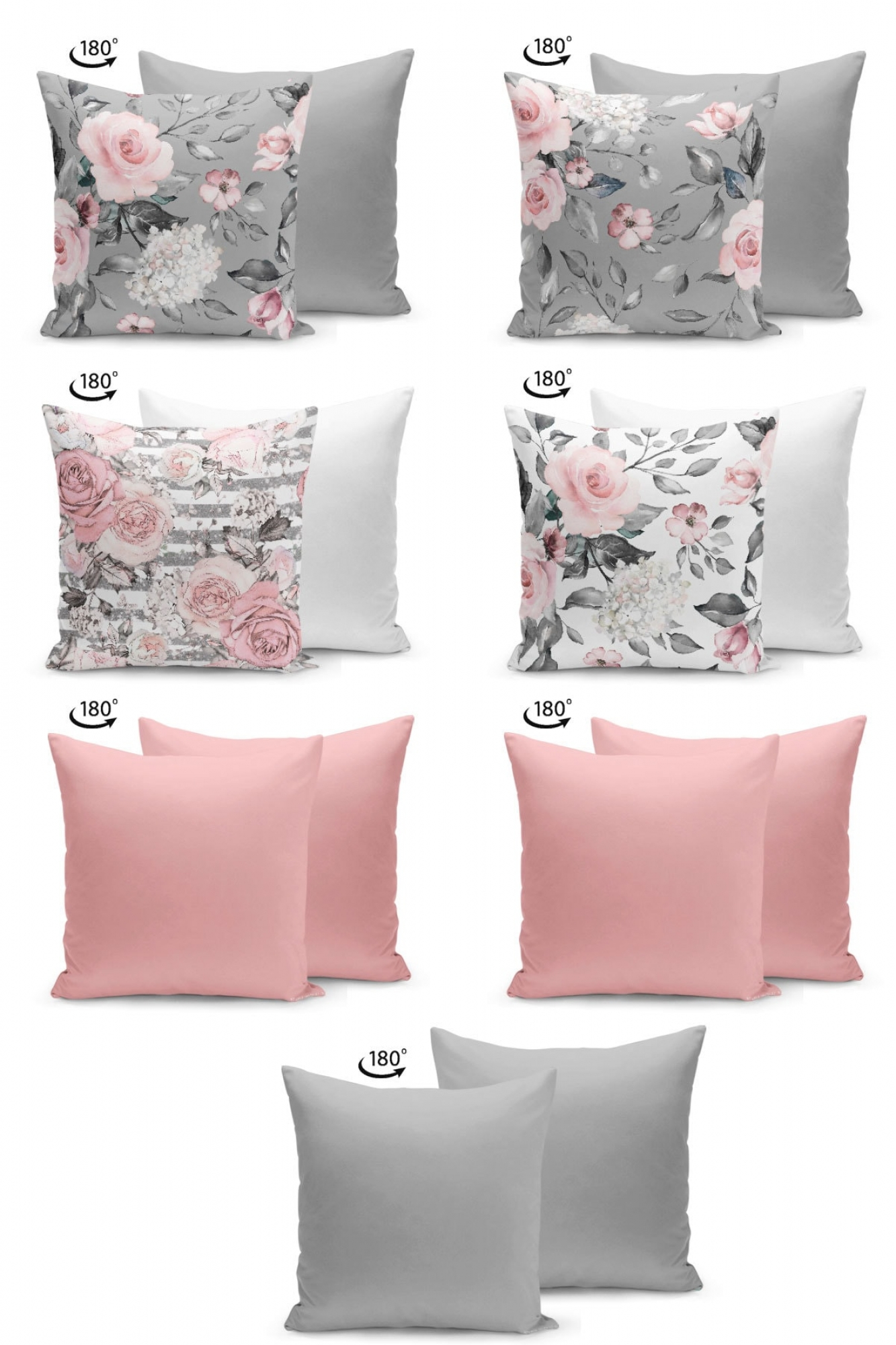 Pillowcases - Set of 7 - Rose
