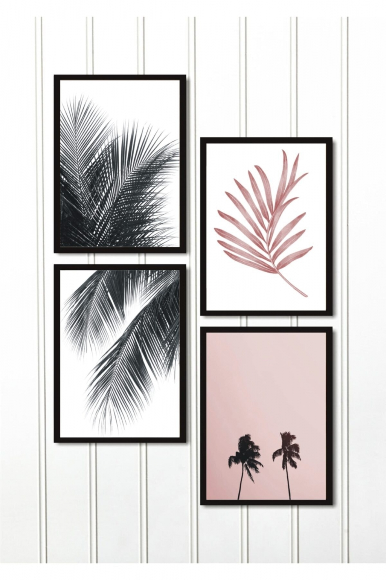 MDF Pictures - Set of 4 - Palm
