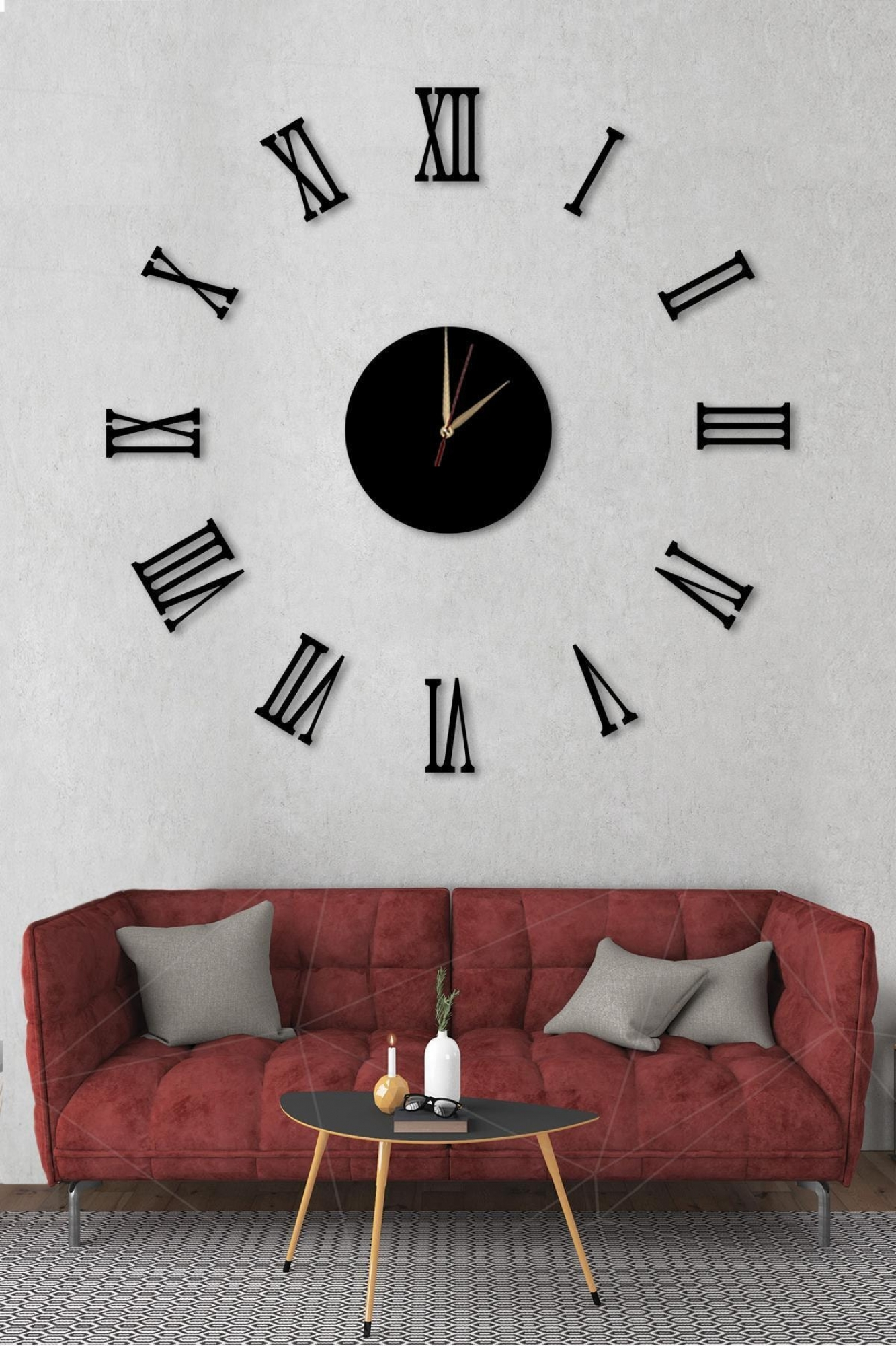 Wall clock - black rome