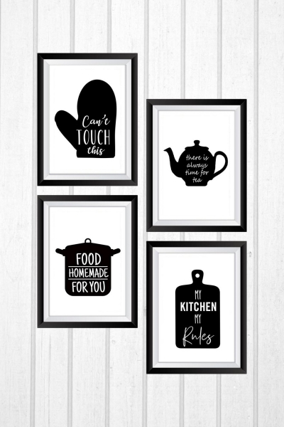 MDF Pictures - Set of 4 - Balck Cup